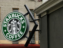 Starbucks sign Stock Photo