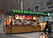 Starbucks store in Beijing International Airport Royalty Free Stock Photography