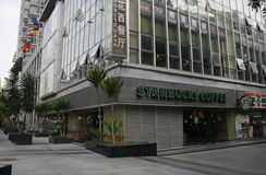 A Starbucks store located in Futian District of Shenzhen Royalty Free Stock Images