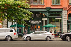 Starbucks store in Seattle Royalty Free Stock Image