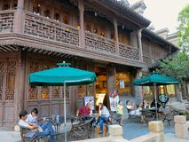 Starbucks in Traditional Chinese Style Stock Images