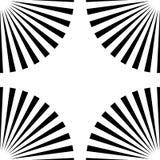 Starburst光芒,射线无缝的几何样式 单色r 向量例证