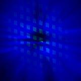 Starburst蓝色抽象背景 向量例证