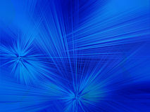 Starburst蓝色抽象背景 库存例证