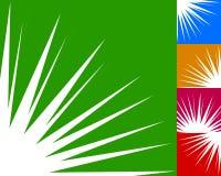 Starburst, élément de fond de rayon de soleil dans la couleur 5 Éclair, souffle Images libres de droits