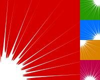 Starburst, élément de fond de rayon de soleil dans la couleur 5 Éclair, souffle Images stock
