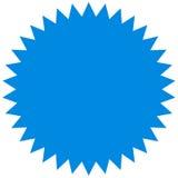 Starburst вектора, значок sunburst Голубой цвет Простой плоский стиль Винтажный ярлык, стикер иллюстрация вектора
