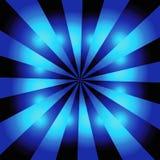 starburst сини предпосылки Стоковая Фотография RF