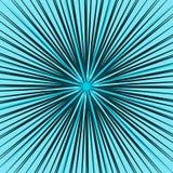 Starburst, элемент sunburst Радиальный, излучающ линии пересекают a иллюстрация штока