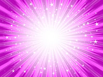 Starburst. Background in shades of pink Royalty Free Stock Photography