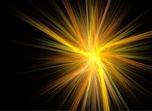 抽象背景分数维starburst 免版税库存照片