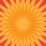 Starburst arancione Fotografia Stock Libera da Diritti