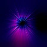 Starburst błękitny abstrakcjonistyczny tło Fotografia Royalty Free