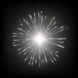 Starburst background black Royalty Free Stock Image