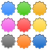 Starburst / badge shapes Stock Photography