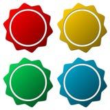 Starburst, badge shapes. Vector set Stock Image