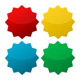 Starburst, badge shapes. Vector set Stock Photo