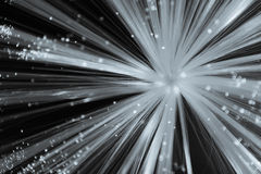 Starburst blanc sur le fond noir photo libre de droits