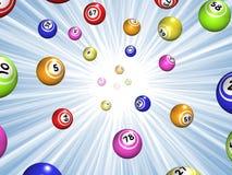 Starburst de bingo-test illustration stock