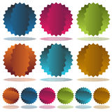 Starburst Dent Set. An image of a colorful starburst dent set Stock Image