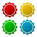 Starburst emblemformer Fotografering för Bildbyråer