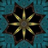 Starburst filigree egípcio ilustração royalty free