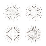 Starburst fireworks shapes. Sunburst, starburst vector shapes for your design Stock Photos