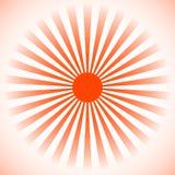 Starburst, fondo dello sprazzo di sole Linee radiali, bande con circl illustrazione di stock