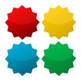 Starburst, formas de la insignia Foto de archivo