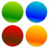 Starburst ha modellato il distintivo, forma del bottone con copyspace Sedere astratte illustrazione vettoriale