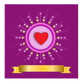 Starburst hjärta - illustration Arkivfoton