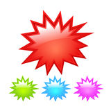 Starburst icon. S set isolated on white Royalty Free Stock Images