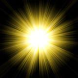 Starburst jaune Photo libre de droits