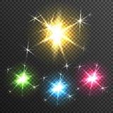 Starburst Light Effect Transparent Image Royalty Free Stock Image