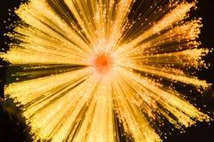 Starburst linear en oro y negro Foto de archivo libre de regalías