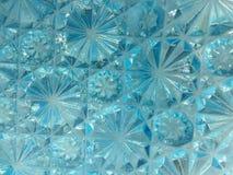 Starburst modeller i kulört exponeringsglas för Aqua royaltyfria bilder