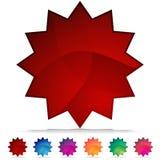 Starburst mosaisk Crystal knappSet Arkivfoton