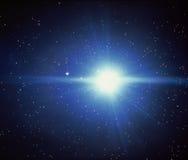 Starburst nello spazio fotografia stock libera da diritti