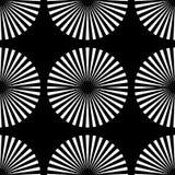 Starburst promienie, promienia bezszwowy geometryczny wzór Monochrom r royalty ilustracja