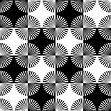 Starburst rays, beams seamless geometric pattern. Monochrome r. Epeatable backdrop. - Royalty free vector illustration stock illustration