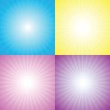 Starburst, resplandor solar ilustración del vector