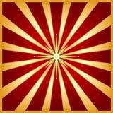 Starburst rosso dell'oro con la stella del centro Fotografie Stock Libere da Diritti