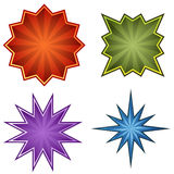 Starburst Set Royalty Free Stock Photography