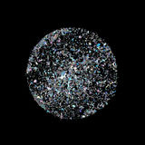 Starburst with sparkles. Silver glitter. Stock Photo