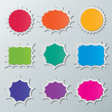 Starburst speech bubbles Stock Photo