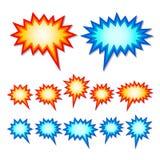 Starburst speech bubbles Stock Images