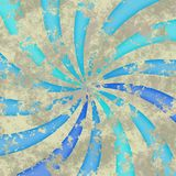 Starburst spiral background. Grunge style - illustration Stock Photography