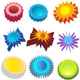 Starburst Stickers: Bursters 3D Royalty Free Stock Photography