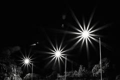 Starburst-Straßenbeleuchtung Stockfotos