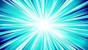 Starburst-Strahlen im Raum Karikaturstrahln-Schleifenanimation Zukünftiger Technologiekonzepthintergrund Explosionsstern mit Lini stock footage